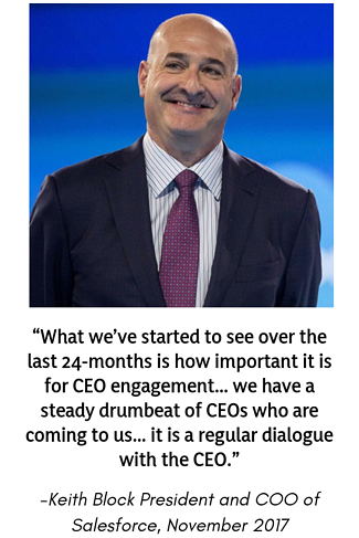 Keith Block President and COO of Salesforce November 2017