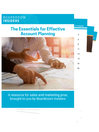 eBook cover- Essentials for Effective Account Planning
