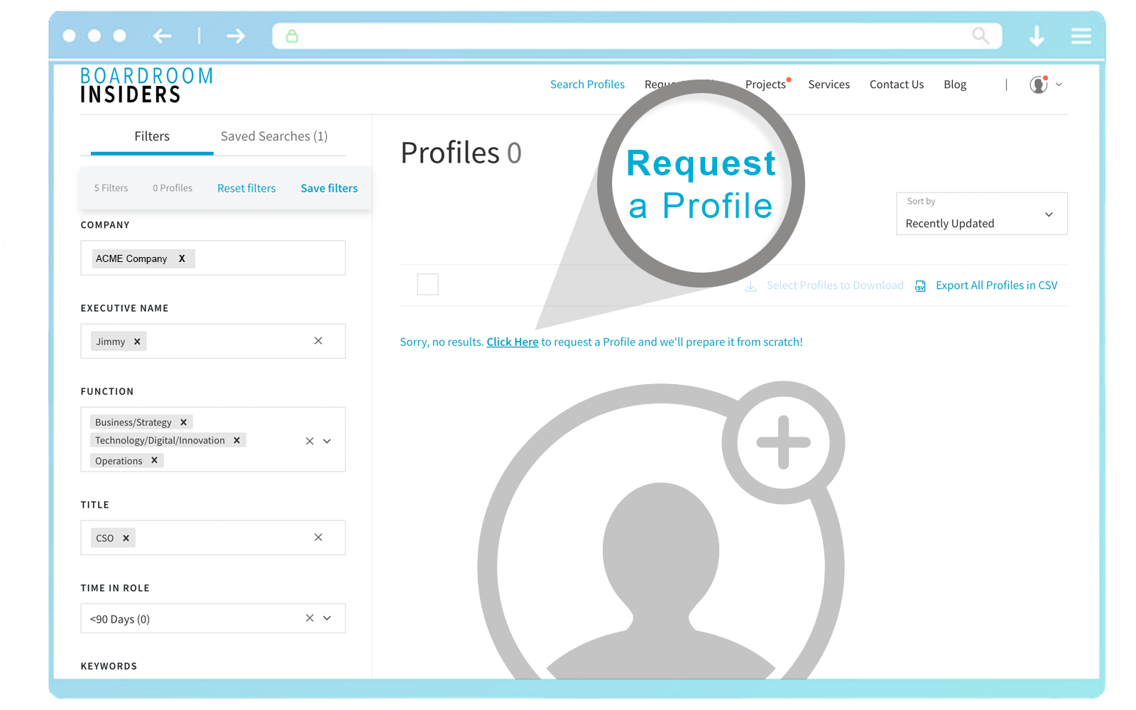 BI Features Request New Profiles